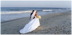 walk on beach bride