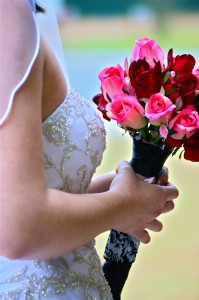 Pink and Red roses simply bouquet