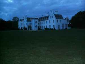 Islay house in the evening