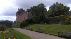 Brodick castle from garden vie